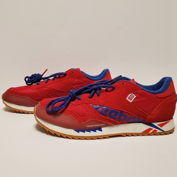 Orbita canal plantador  Reebok Shoes | Reebok Classic Leather Ripple Womens Shoes Red | Poshmark